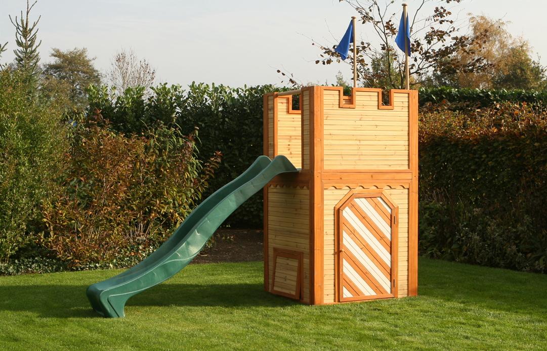 holz ritterburg bloxxis k nig artus kinder spielturm holz spielturm mit rutsche playhouses. Black Bedroom Furniture Sets. Home Design Ideas
