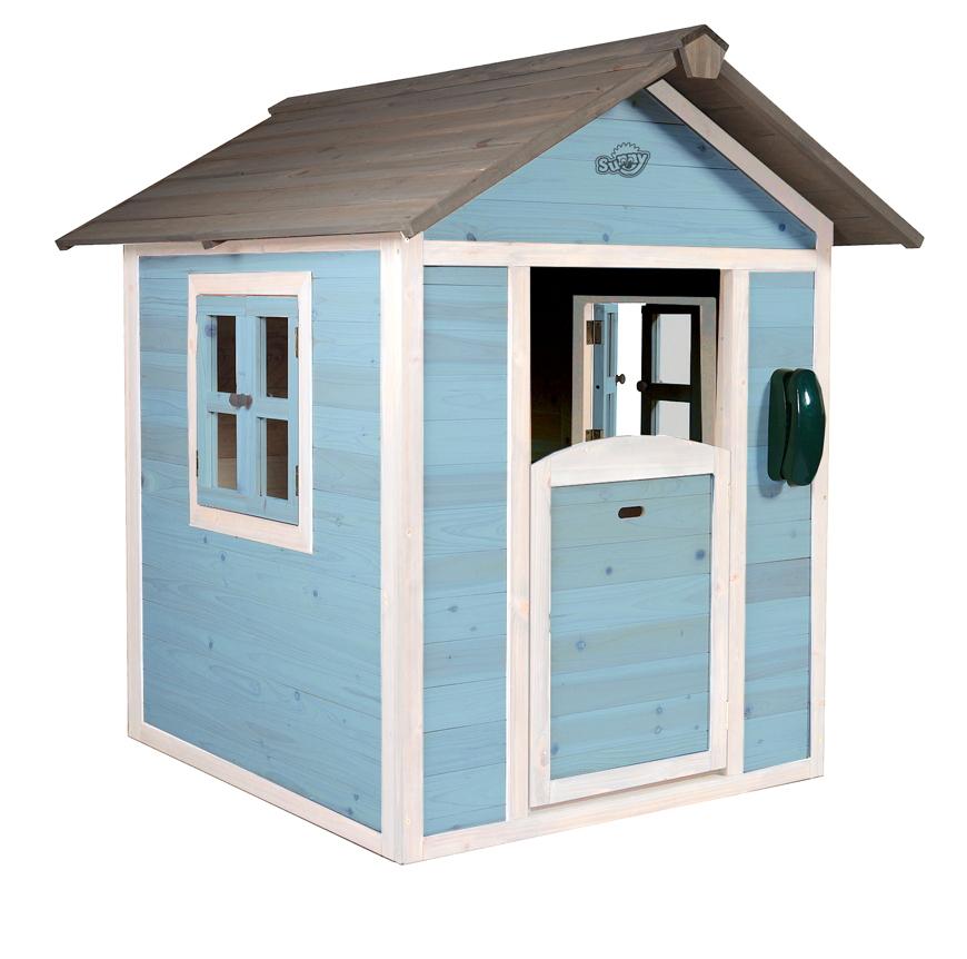 Kinder Spielhaus Beachstyle Lodge Blau Kinderspielhaus Holz